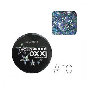 Глиттерный гель Oxxi Hollywood №10