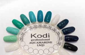 Гель лак Kodi Basic Collection 8 мл AQ 100  темно-синий с зеленым шиммером
