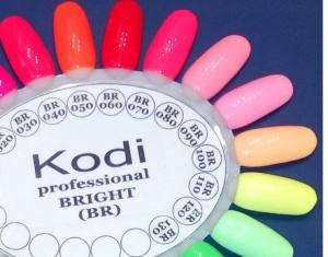 Гель лак Kodi Basic Collection 8 мл BR110 неоновый лимонно-желтый