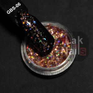 Конфетти битое стекло розовые  GBS-06