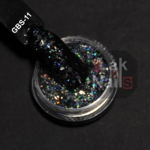 Конфетти битое стекло серые GBS-11