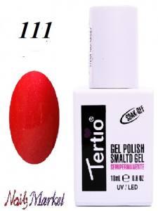 Гель-лак Tertio Classico 18мл №111 малиновый с микроблестками