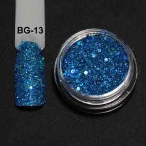 Голографический брокард для дизайна ногтей (BG-13), светло-голубой