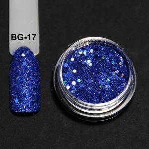 Голографический брокард для дизайна ногтей (BG-17), голубой
