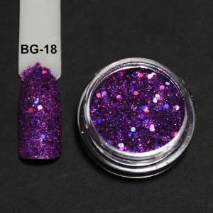 Голографический брокард для дизайна ногтей (BG-18), фиолетовый