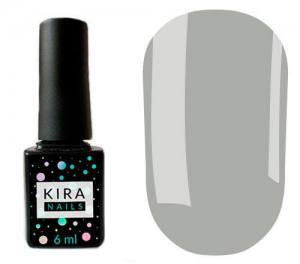 Гель-лак Kira Nails №133 (серо-голубой, эмаль), 6 мл
