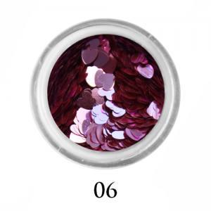 Блестки сердечки Adore 3 мм №06  розовый