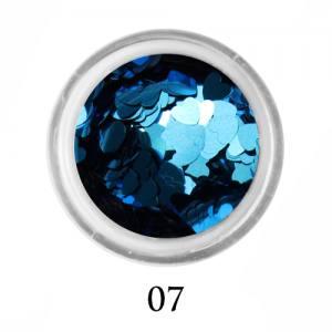 Блестки сердечки Adore 3 мм №07 голубой