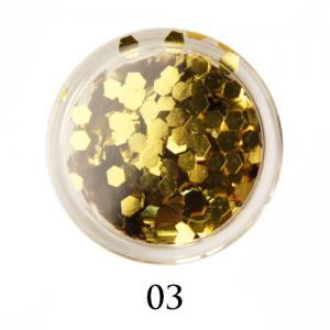 Блестки-диаманты Adore 2 мм №03 золото