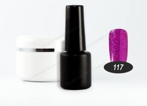 Гель-лак на розлив 5г №117 фиолетовый глиттерный