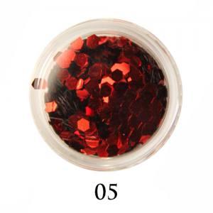 Блестки-диаманты Adore 2 мм №05 красные