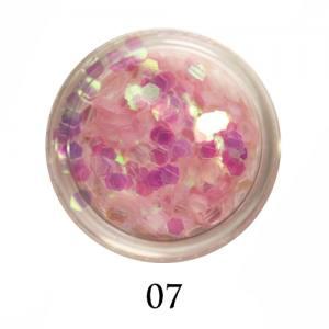 Блестки-диаманты Adore 2 мм №07 розовые прозрачные
