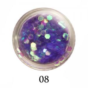 Блестки-диаманты Adore 2 мм №08 фиолетовые прозрачные