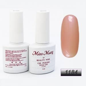 Гель-лак Miss Mary 8ml № 1184 ( нежно-розовый с микроблеском )