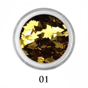 Ромбики для декора Adore 2 мм 2,5г №1 в банке золото
