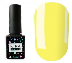 Гель-лак Kira Nails №074 (светло-желтый, эмаль), 6 мл
