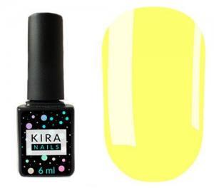 Гель-лак Kira Nails №075 (бледно-желтый, эмаль), 6 мл