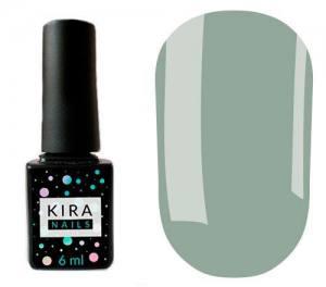 Гель-лак Kira Nails №134 (зелено-серый, эмаль), 6 мл