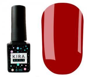Гель-лак Kira Nails №144 (насыщенный красный, эмаль), 6 мл