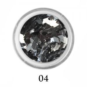 Ромбики для декора Adore 2 мм 2,5г №4 в банке серебро