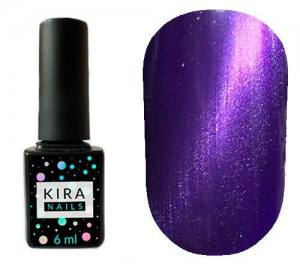 Гель-лак Kira Nails Cat Eye №006 (фиолетовый, магнитный), 6 мл