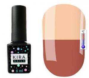 Термо гель-лак Kira Nails №T02 (розово-коричневый, при нагревании кремовый), 6 мл