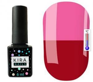 Термо гель-лак Kira Nails №T04 (бордовый, при нагревании темно-лиловый), 6 мл