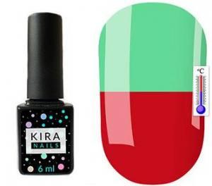 Термо гель-лак Kira Nails №T05 (бордовый, при нагревании приглушенный салатовый), 6 мл