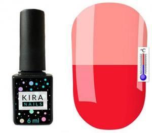Термо гель-лак Kira Nails №T09 (малиновый, при нагревании бледно-розовый), 6 мл