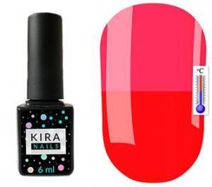 Термо гель-лак Kira Nails №T11 (красный, при нагревании ярко-розовый), 6 мл