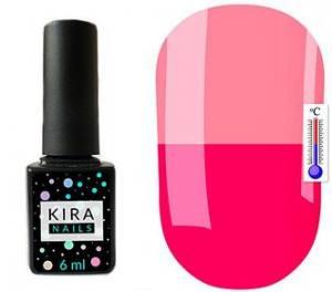Термо гель-лак Kira Nails №T13 (насыщенный темно-розовый, при нагревании ярко-розовый), 6 мл