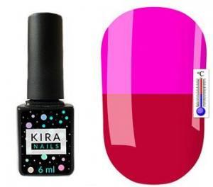 Термо гель-лак Kira Nails №T16 (малиновая фуксия, при нагревании яркий фиолетовый), 6 мл
