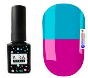 Термо гель-лак Kira Nails №T17 (яркий фиолетовый, при нагревании голубой), 6 мл