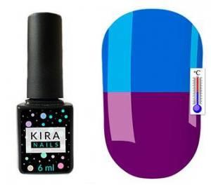 Термо гель-лак Kira Nails №T20 (насыщенный фиолетовый, при нагревании яркий голубой), 6 мл