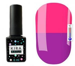 Термо гель-лак Kira Nails №T21 (светло-фиолетовый, при нагревании розовый), 6 мл