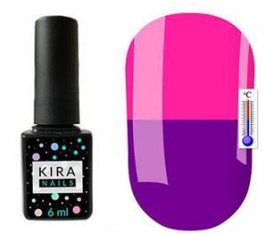 Термо гель-лак Kira Nails №T22 (сине-фиолетовый, при нагревании темно-розовый), 6 мл