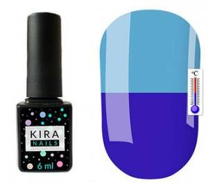 Термо гель-лак Kira Nails №T23 (светло-синий, при нагревании бледно-голубой), 6 мл