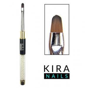 Кисть для геля Kira Nails Gel oval 4 (Nylon)