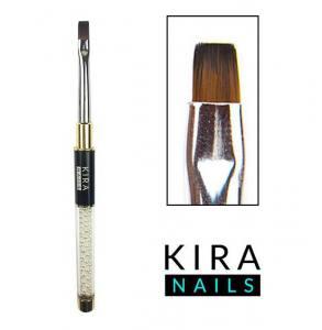 Кисть для геля Kira Nails Gel flat 6 (Nylon)