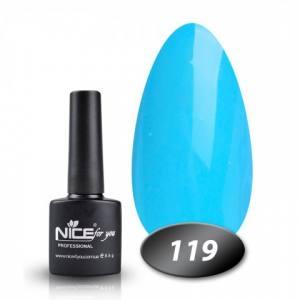 Гель-лак Nice for you № 119 (ярко-голубой) 8.5 мл