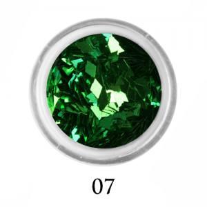Ромбики для декора Adore 2 мм 2,5г №7 в банке зеленые
