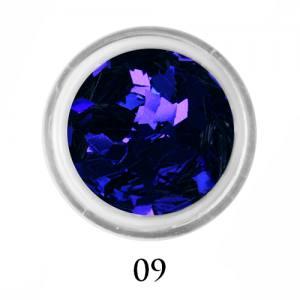 Ромбики для декора Adore 2 мм 2,5г №9 в банке синие