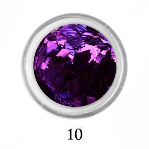 Ромбики для декора Adore 2 мм 2,5г №10 в банке фиолетовые