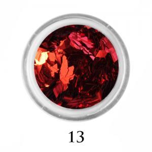 Ромбики для декора Adore 2 мм 2,5г №13 в банке алые