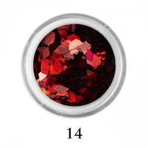 Ромбики для декора Adore 2 мм 2,5г №14 в банке красные