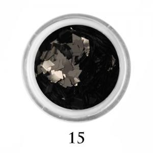 Ромбики для декора Adore 2 мм 2,5г №15 в банке черные