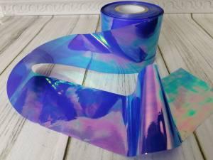 Фольга битое стекло 1м Лавандовая
