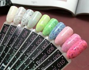 Гель-лак Kira Nails Yoghurt Boom! №004 (помадка мармеладная с неоновыми блестками, йогурт), 6 мл