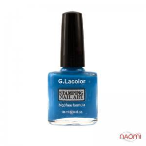 Лак-краска для стемпинга G.Lacolor №7 синий