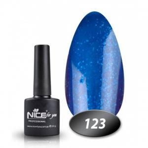 Гель-лак Nice 8.5г №123 синий аквариум